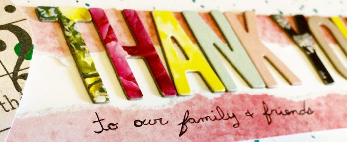 Wedding Scrapbook: Thank You