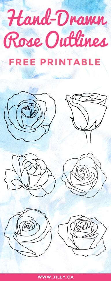 Hand-Drawn-Roses-Free