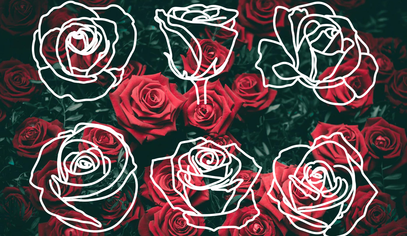 hand-drawn-rose-outlines-free-printable